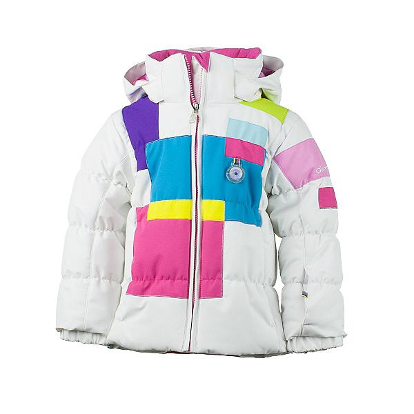 Obermeyer Kitt Toddler Girls Ski Jacket, White, 600