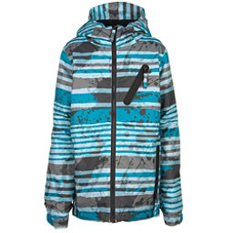 686 Trail Boys Snowboard Jacket, Blue Stripe, 256