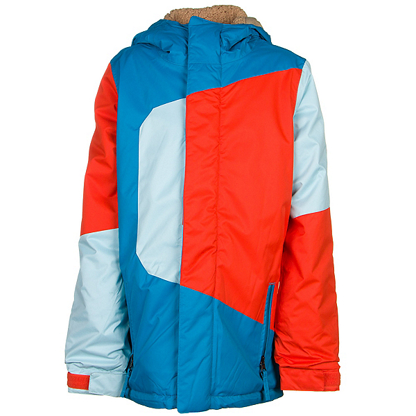 686 Blaze Boys Snowboard Jacket, Blue Colorblock, 600