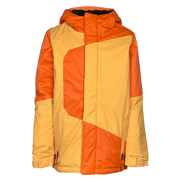 686 Blaze Boys Snowboard Jacket, Orange Colorblock, 600