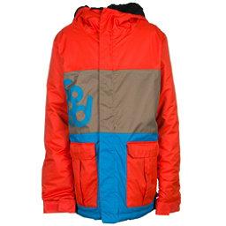 686 Elevate Boys Snowboard Jacket, Burnt Orange Colorblock, 256