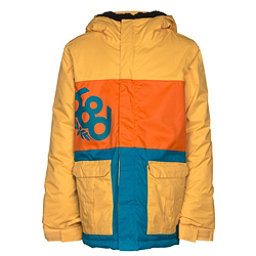 686 Elevate Boys Snowboard Jacket, Yellow Colorblock, 256
