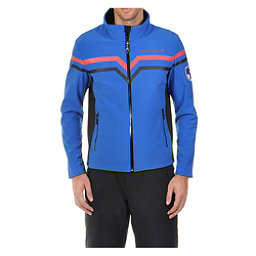Volkl Yellow Mens Soft Shell Jacket, Blue-Black, 256