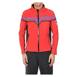 Volkl Yellow Mens Soft Shell Jacket, Red-Black, 256