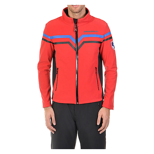 Volkl Yellow Mens Soft Shell Jacket, Red-Black, 600