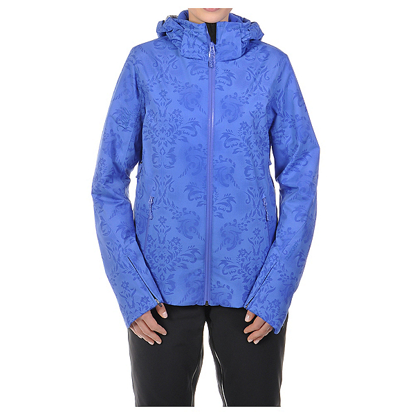 Volkl Silver Star Womens Insulated Ski Jacket, Blue Lace Print, 600