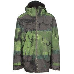 Volkl Khula Mens Insulated Ski Jacket, Raw Grasshopper Print, 256
