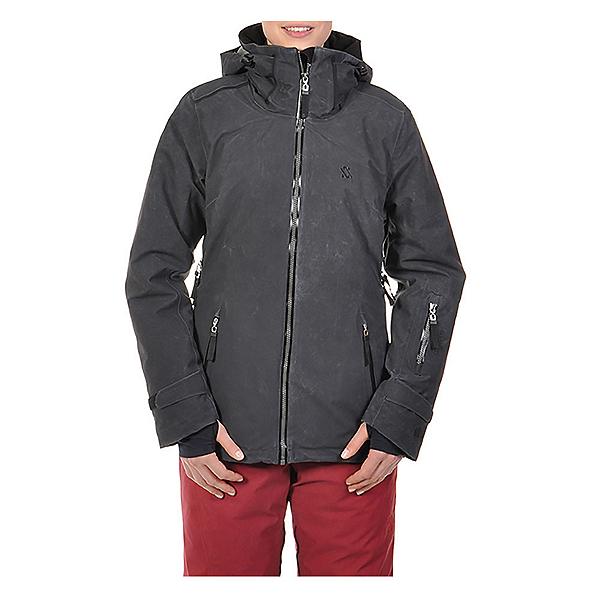 Volkl Manu Womens Insulated Ski Jacket, Black Wax, 600