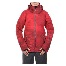 Volkl Manu Womens Insulated Ski Jacket, Wild Thing Goon Red Print, 256