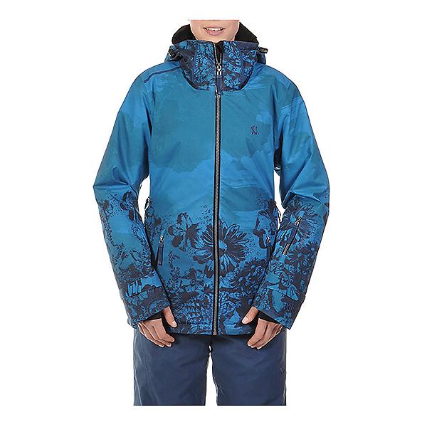 Volkl Manu Womens Insulated Ski Jacket, Wild Thing Denim Print, 600