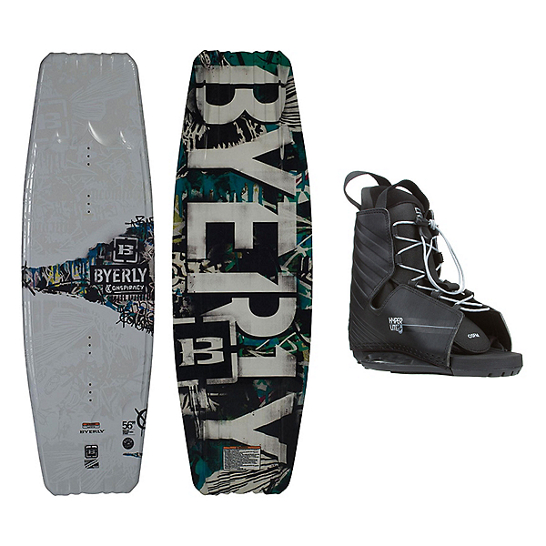 Byerly Conspiracy Wakeboard With Hyperlite Frequency Bindings, , 600
