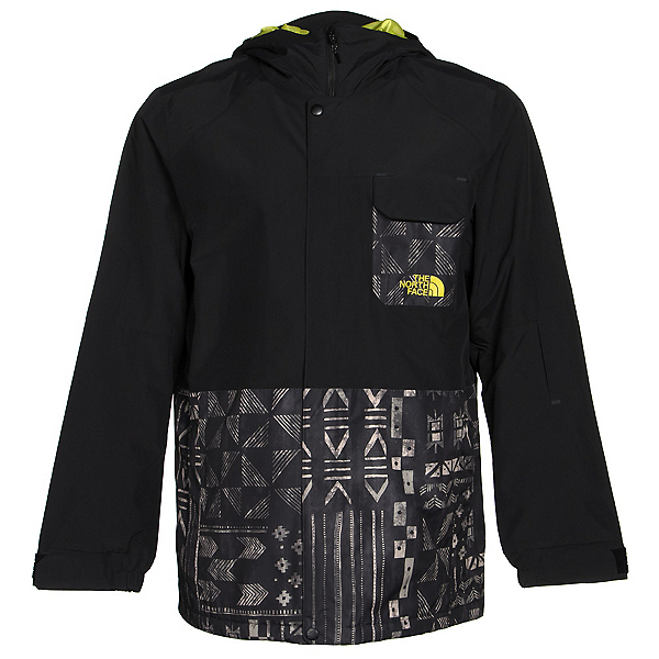 The North Face Number Eleven Mens Shell Ski Jacket (Previous Season), TNF Black Faction Print-TNF Bl, 600