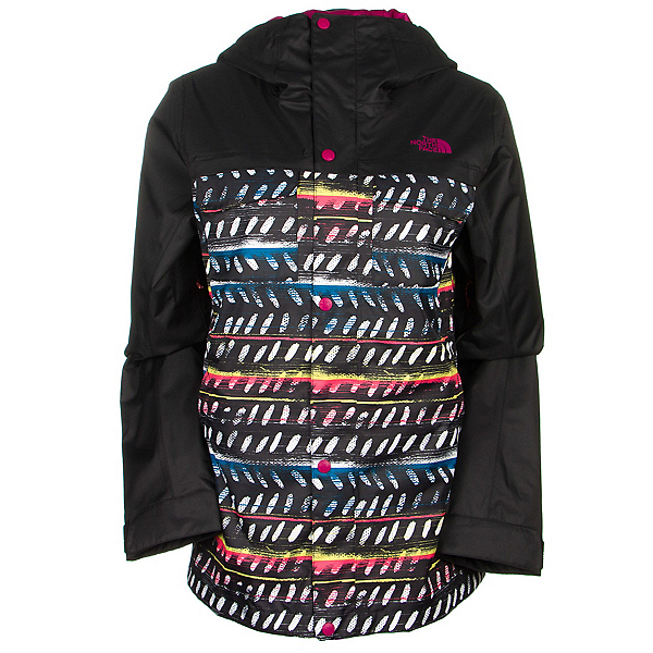 The North Face Ricas Womens Insulated Ski Jacket (Previous Season), TNF Black Ticky Tacky Print, 600