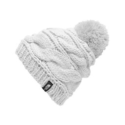 The North Face Triple Cable Pom Womens Hat, TNF White, 256