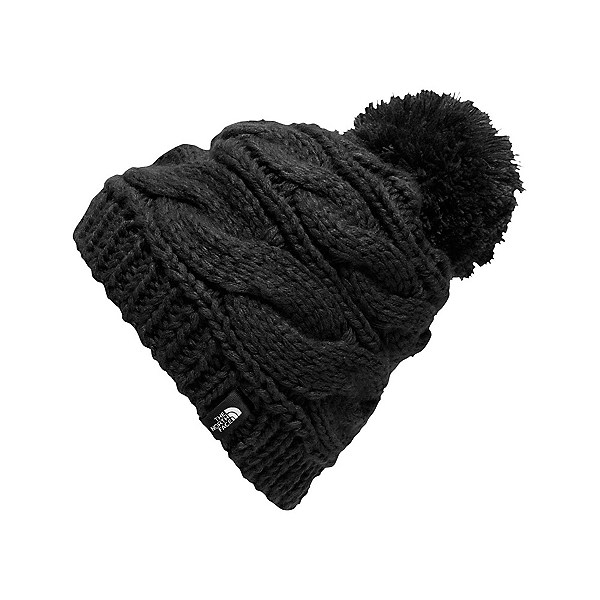 The North Face Triple Cable Pom Womens Hat, TNF Black, 600