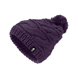 The North Face Triple Cable Pom Womens Hat, Dark Eggplant Purple, 256