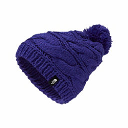The North Face Triple Cable Pom Womens Hat, Inauguration Blue, 256