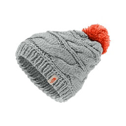 The North Face Triple Cable Pom Womens Hat, High Rise Grey-Nasturtium Oran, 256