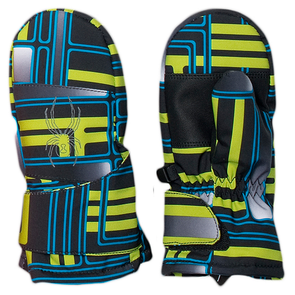 Spyder Mini Cubby Toddlers Mittens (Previous Season), Theory Green Routed Print-Pola, 600