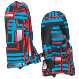 Spyder Mini Cubby Toddlers Mittens, Volcano Routed Print-Polar, 256