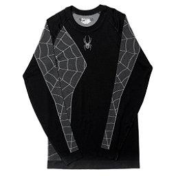 Spyder Skeleton Mens Long Underwear Top (Previous Season), Black-White, 256