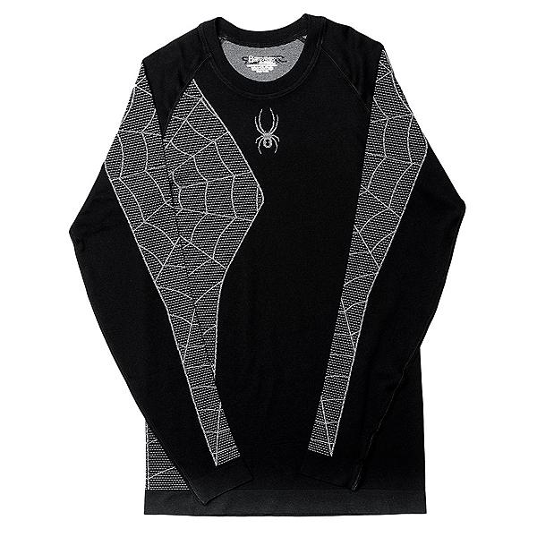 Spyder Skeleton Mens Long Underwear Top (Previous Season), Black-White, 600