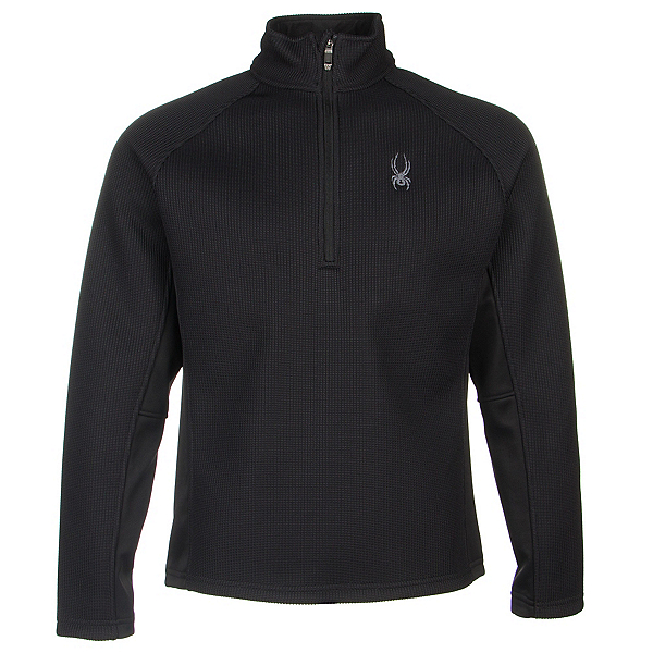 Spyder Core Pitch Half Zip Mens Sweater, Black-Black, 600