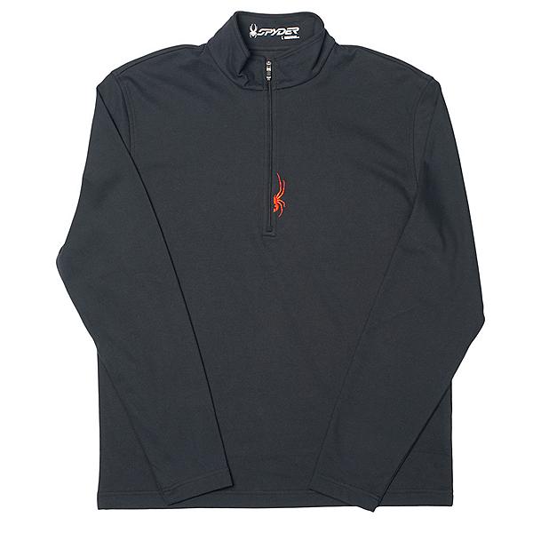 Spyder Buckhorn Cotton Poly T-Neck Mens Mid Layer, Black-Volcano, 600