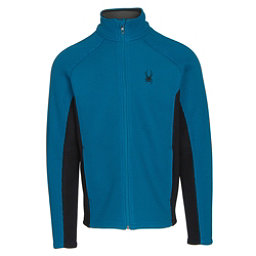 Spyder Core Foremost Full Zip Mens Sweater, Concept Blue-Black, 256