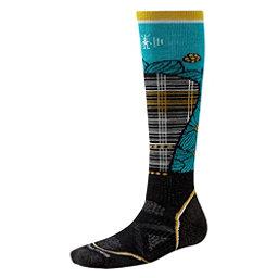 SmartWool PHD Ski Medium Pattern Womens Ski Socks, Black-Capri, 256
