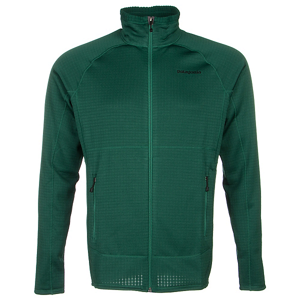 Patagonia R1 Full Zip Mens Jacket, Hunter Green, 600