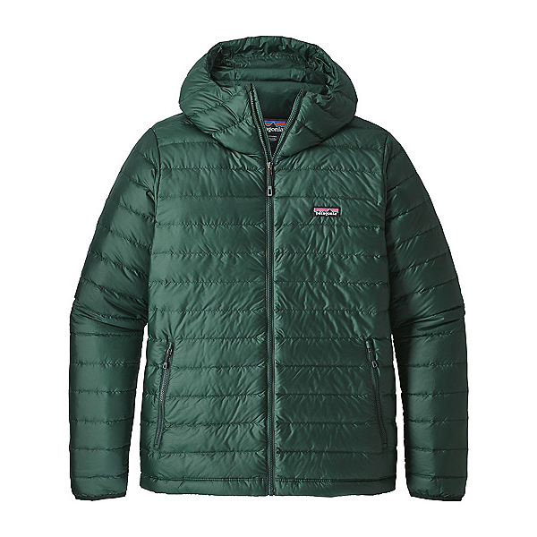 Patagonia Down Sweater Hoody Mens Jacket, Micro Green, 600