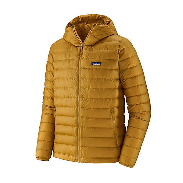 Patagonia Down Sweater Hoody Mens Jacket, Buckwheat Gold, 600