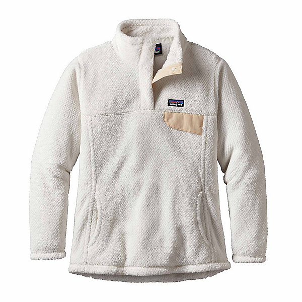 Patagonia Re-Tool Snap-T Pullover Womens Mid Layer, Raw Linen-White X Dye, 600