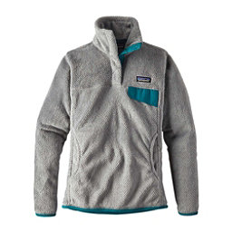 Patagonia Re-Tool Snap-T Pullover Womens Mid Layer, Tailored Grey-Nickel X Dye, 256