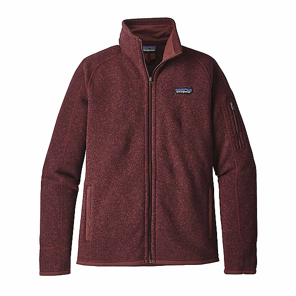 Patagonia Better Sweater Womens Jacket, Dark Ruby, 600