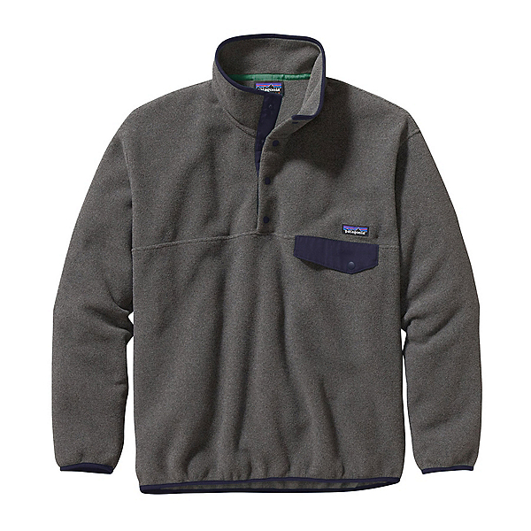 Patagonia Synchilla Snap-T Mens Mid Layer, Nickel-Navy Blue, 600