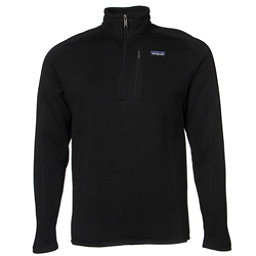 Patagonia Better Sweater 1/4 Zip Mens Mid Layer, Black, 256