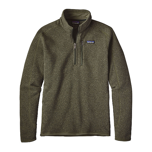 Patagonia Better Sweater 1/4 Zip Mens Mid Layer, Industrial Green, 600