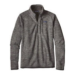 Patagonia Better Sweater 1/4 Zip Mens Mid Layer, Nickel, 256