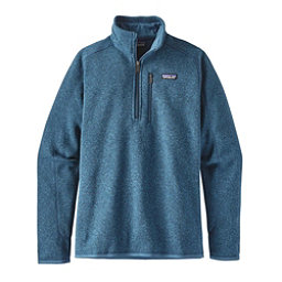 Patagonia Better Sweater 1/4 Zip Mens Mid Layer, Big Sur Blue, 256