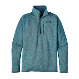 Patagonia Better Sweater 1/4 Zip Mens Mid Layer, Filter Blue, 256