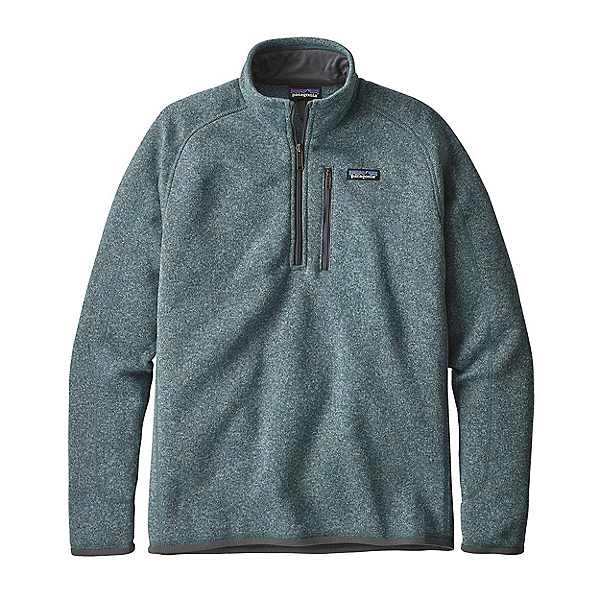 Patagonia Better Sweater 1/4 Zip Mens Mid Layer, Shadow Blue, 600