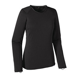 Patagonia Capilene Thermal Crew Womens Long Underwear Top, Black, 256