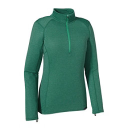 Patagonia Capilene Thermal Zip Neck Womens Long Underwear Top, Arbor Green-Aqua Stone X Dye, 256