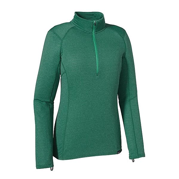 Patagonia Capilene Thermal Zip Neck Womens Long Underwear Top, Arbor Green-Aqua Stone X Dye, 600