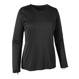 Patagonia Capilene Midweight Crew Womens Long Underwear Top, Black, 256