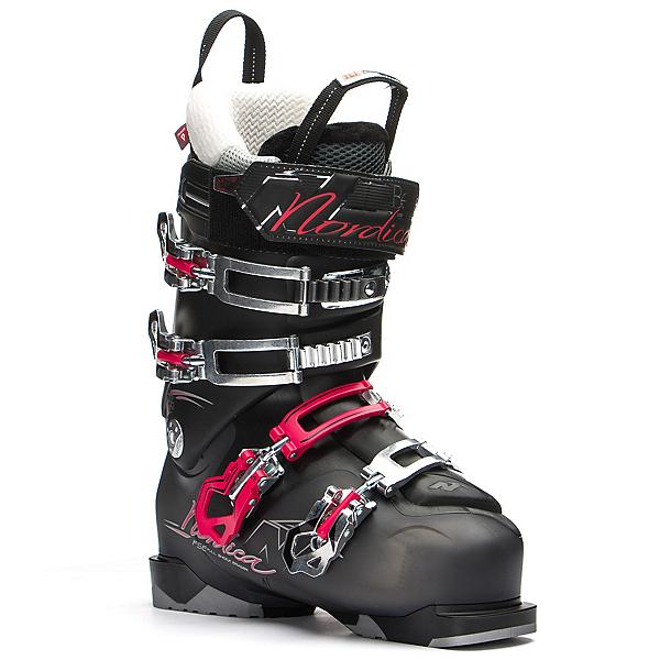 Nordica Belle 85 W Womens Ski Boots, Black-Black, 600