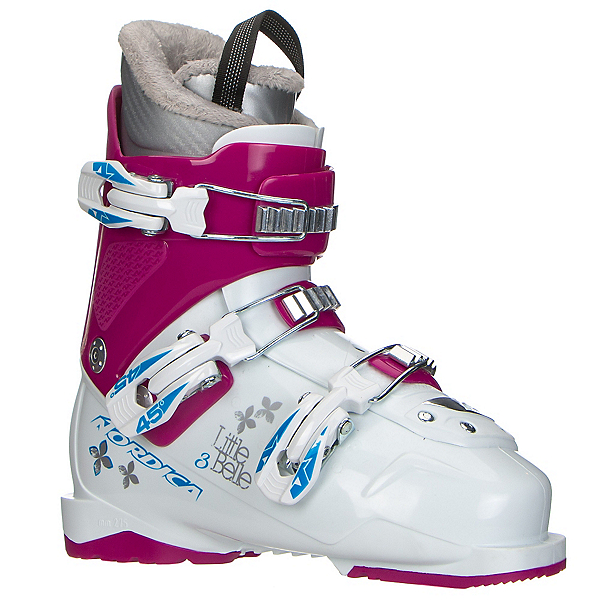 Nordica Little Belle 3 Girls Ski Boots, White-Purple, 600