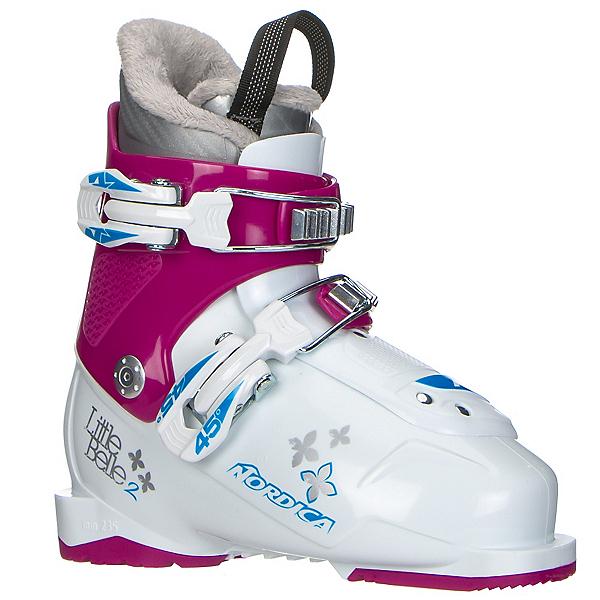 Nordica Little Belle 2 Girls Ski Boots, White-Purple, 600